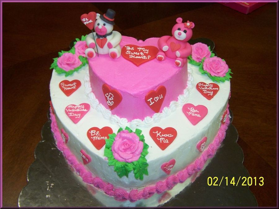 Happy Valentines Day Cake. on Cake Central