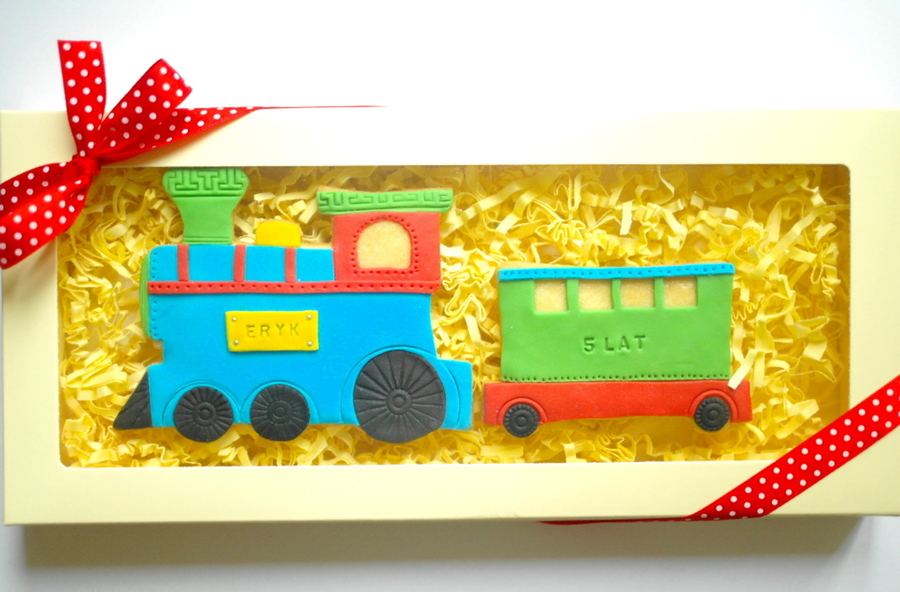 Train Cookies As A Gift on Cake Central
