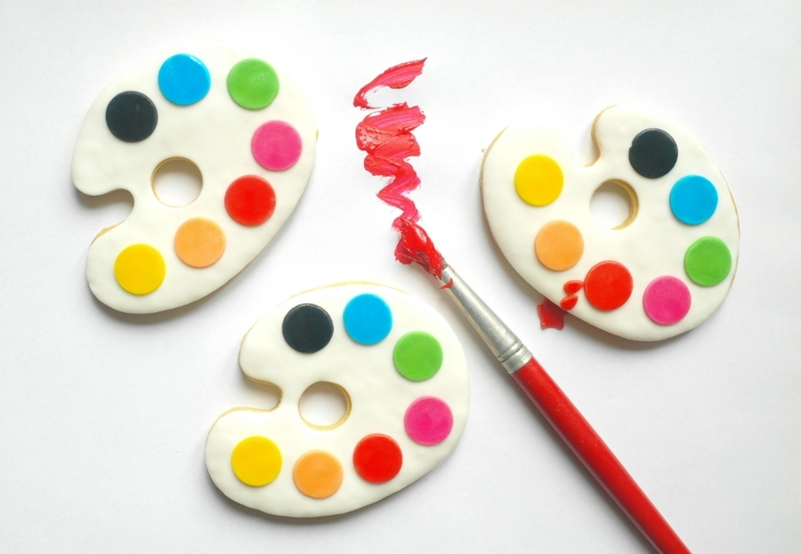 Painting Palette Cookies :-)  on Cake Central