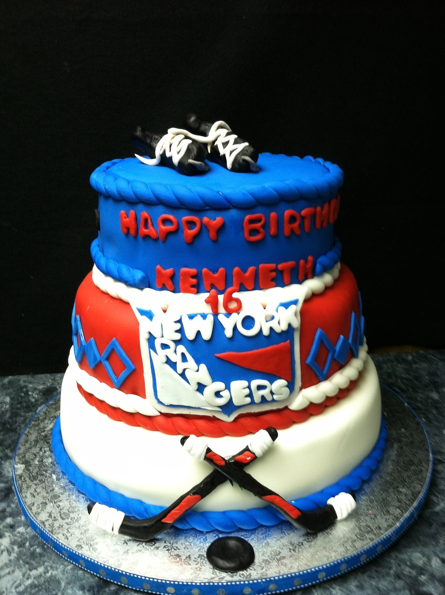Ny Rangers Cake on Cake Central