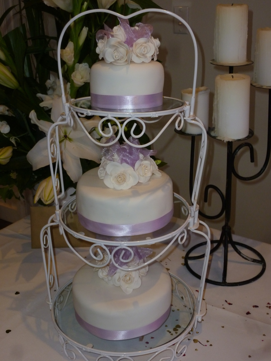 Ebony & Jeremy's Wedding Cake on Cake Central