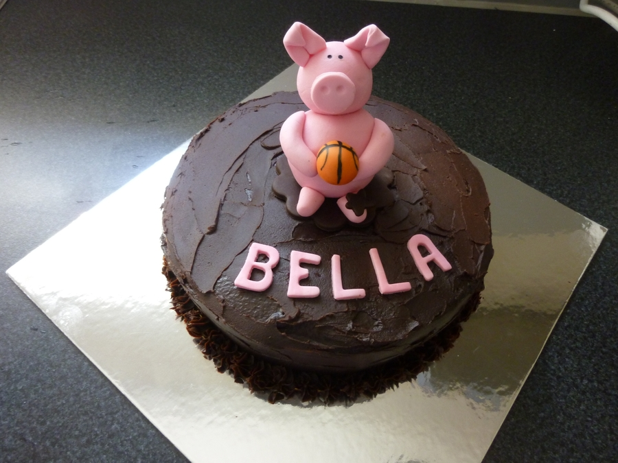 Basketball Pig on Cake Central