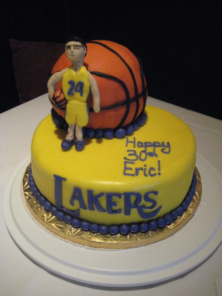 Lakers Cake (30Th Birthday) on Cake Central