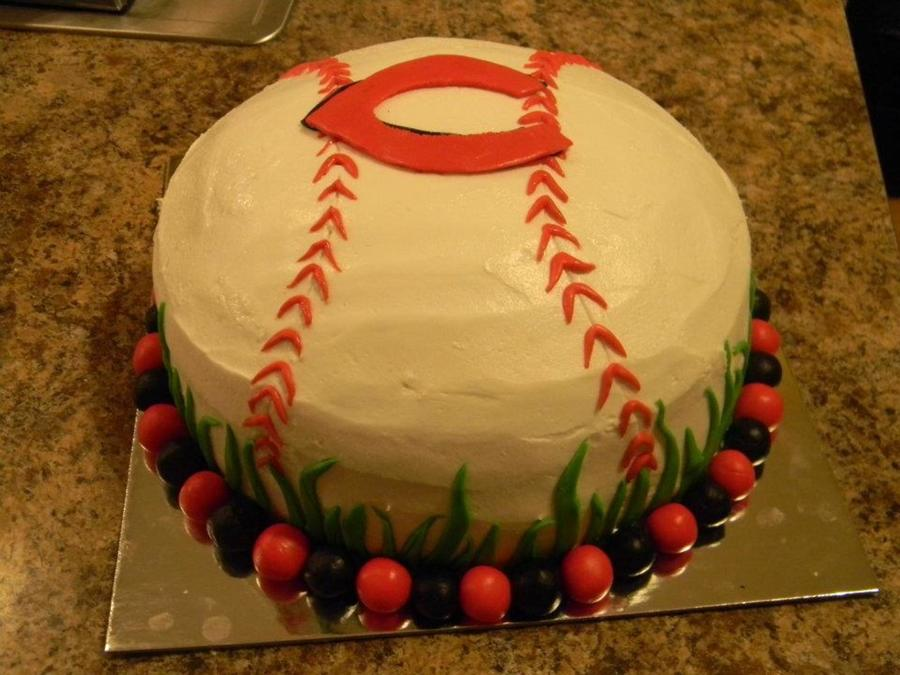 Cincinnati Reds Birthday Cake on Cake Central