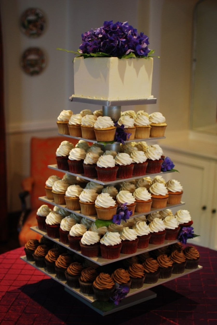 Silver 6 Tier Cupcake Stand Cakecentral Com