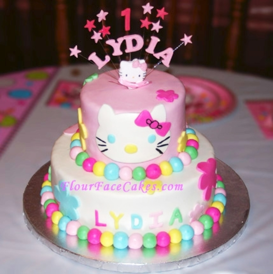 Hello Kitty Tiered Cake on Cake Central