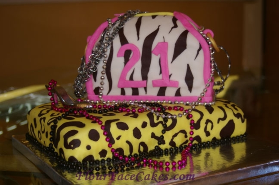 Animal Print Fashionista Cake on Cake Central