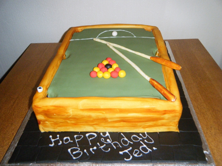 Pooltable  on Cake Central