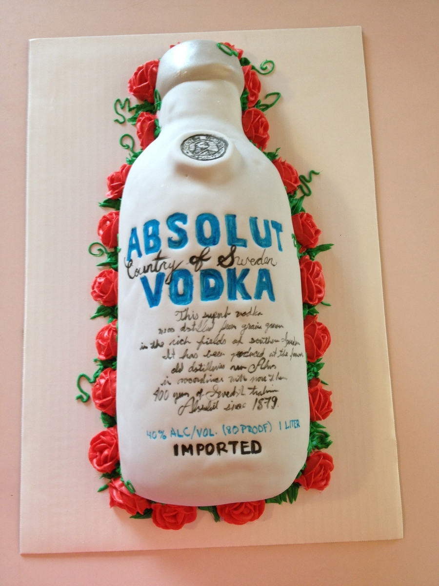 Absolut Vodka Cake - CakeCentral.com