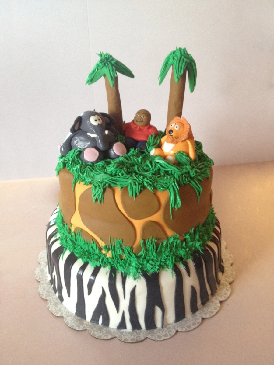 1St Birthday Jungle Themed Cake on Cake Central