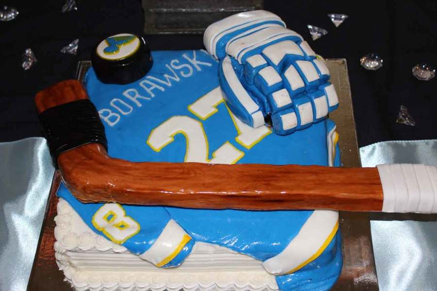 Hockey Grooms Cake on Cake Central