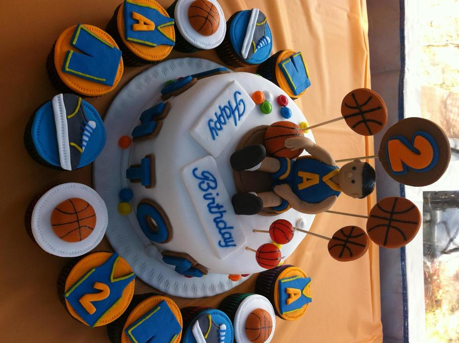 Basketball Theme Cake And Cupcakes Cakecentral Com