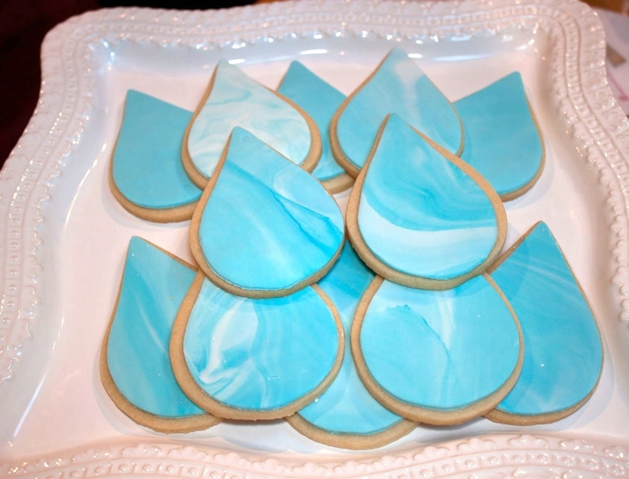 Water Drop Cookie on Cake Central