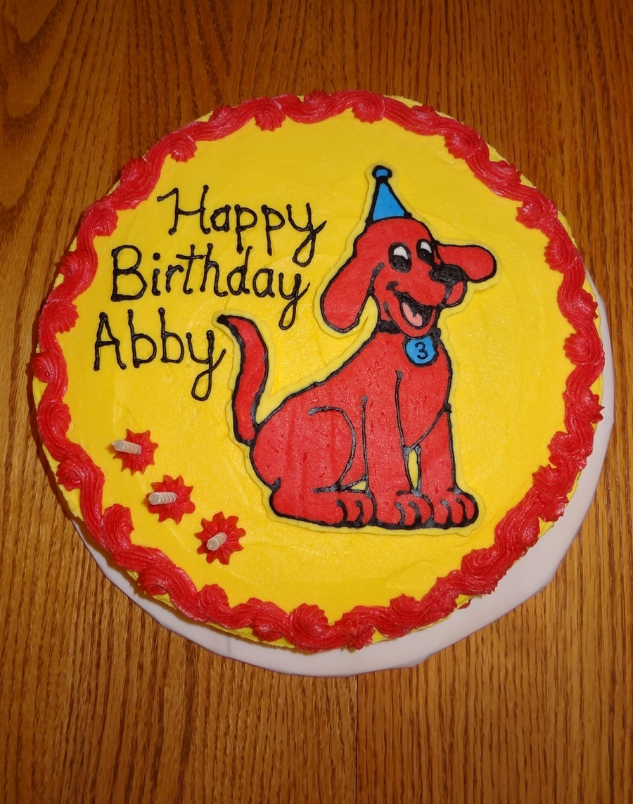Clifford Birthday Cake Cakecentral