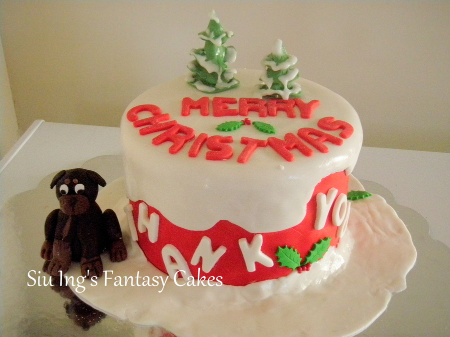 For My Friend And Neighbor Who Works In Humane Society And Helped Us Found Our 3Rd Son His Name Tank And Standing Next Beside The Cake on Cake Central