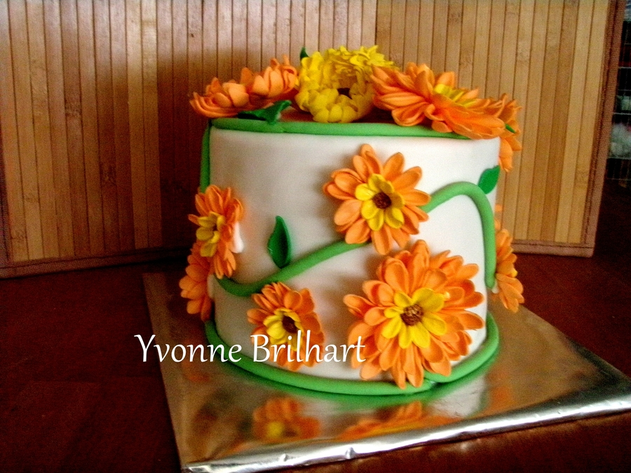 Flowers On Vine  on Cake Central