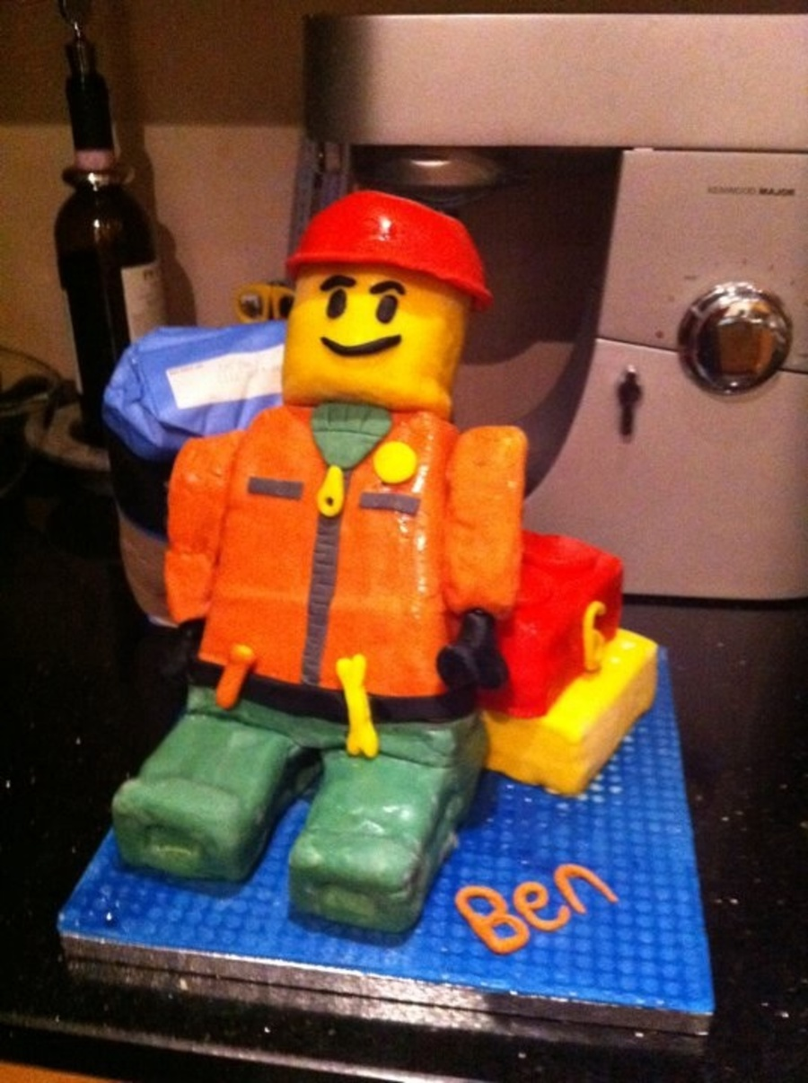 Lego Man on Cake Central