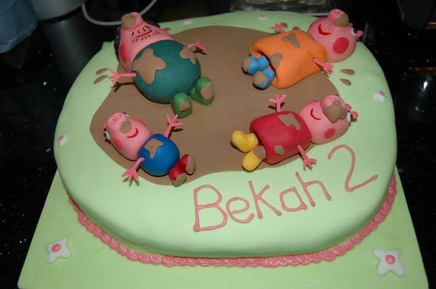 Peppa Pig Jumping Up And Down In Muddy Puddles on Cake Central
