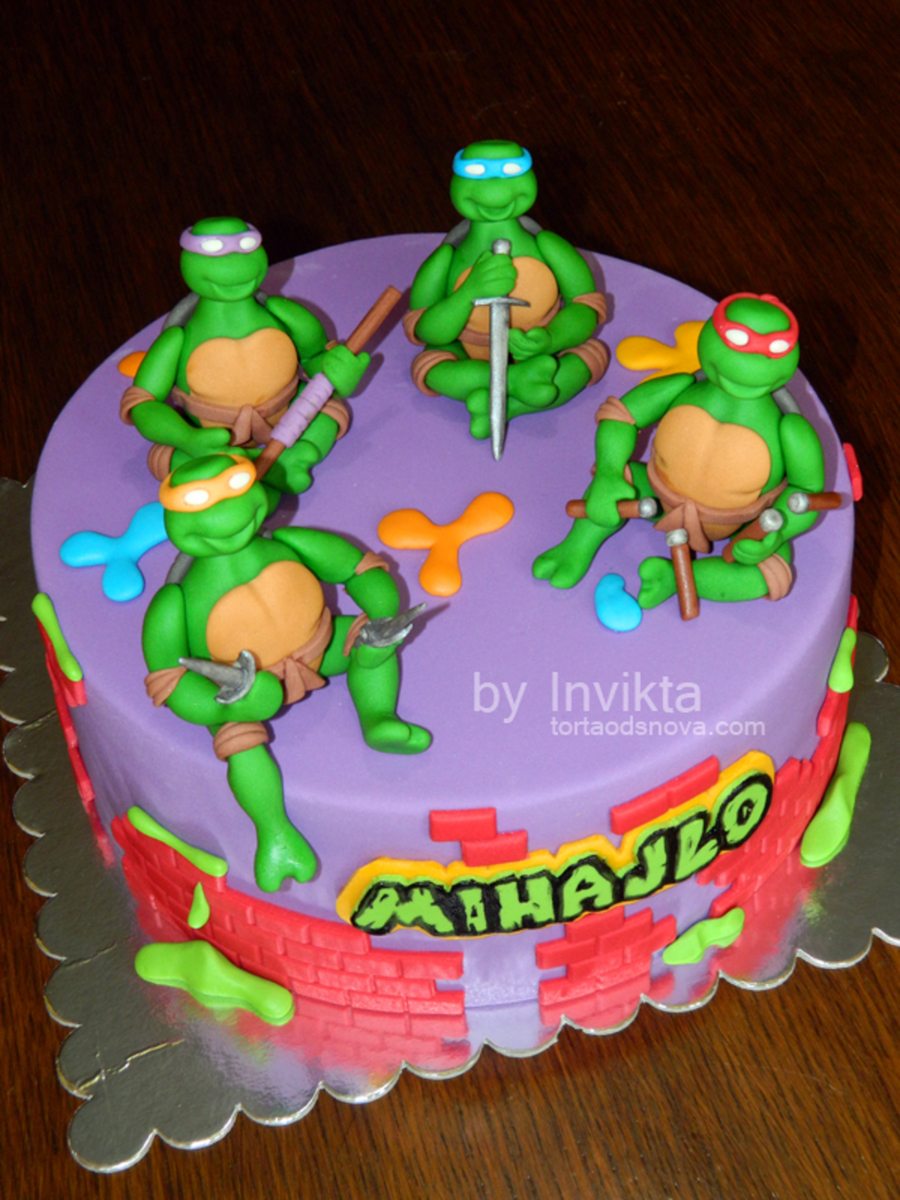 Awe Inspiring Ninja Turtles Birthday Cake Cakecentral Com Birthday Cards Printable Riciscafe Filternl