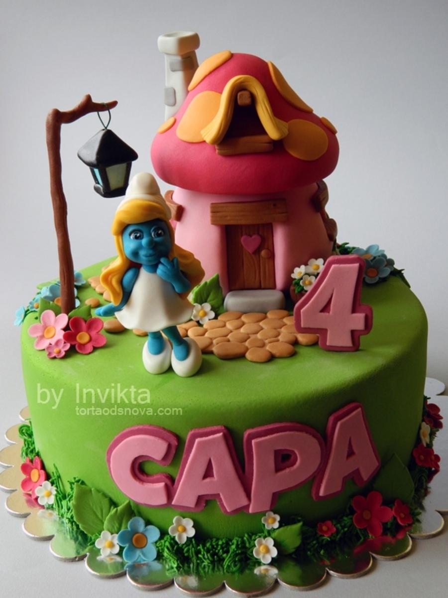 Smurfette Cake Cakecentral Com