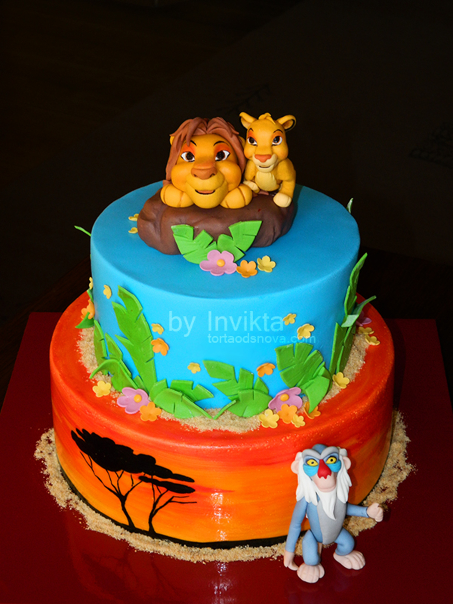 Lion King Cake On Central Handmade Toppers