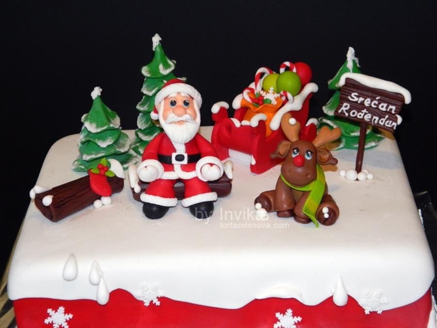 Christmas Birthday Cake Images : Christmas Themed Birthday Cake - CakeCentral.com