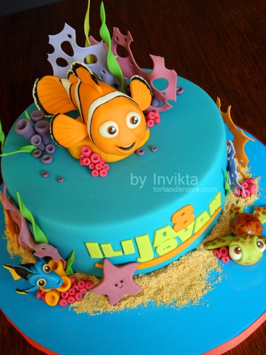 finding nemo birthday cake. Black Bedroom Furniture Sets. Home Design Ideas