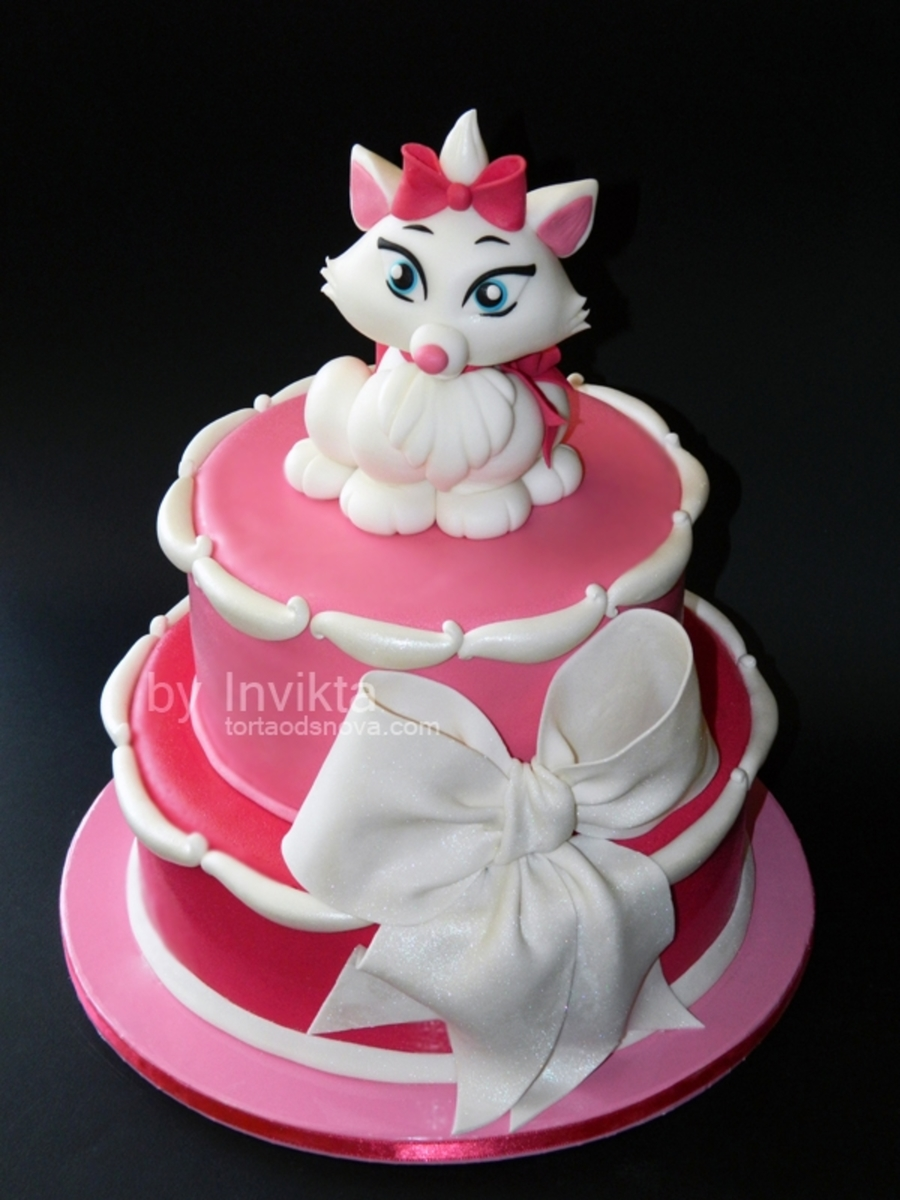 Aristocats Marie Cake on Cake Central