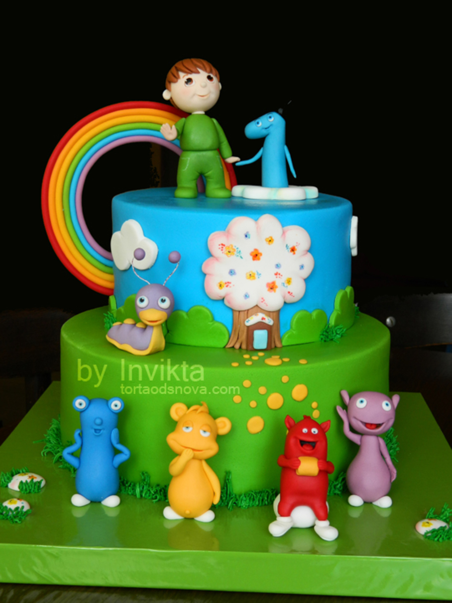 Baby tv birthday cake for Baby tv birthday decoration