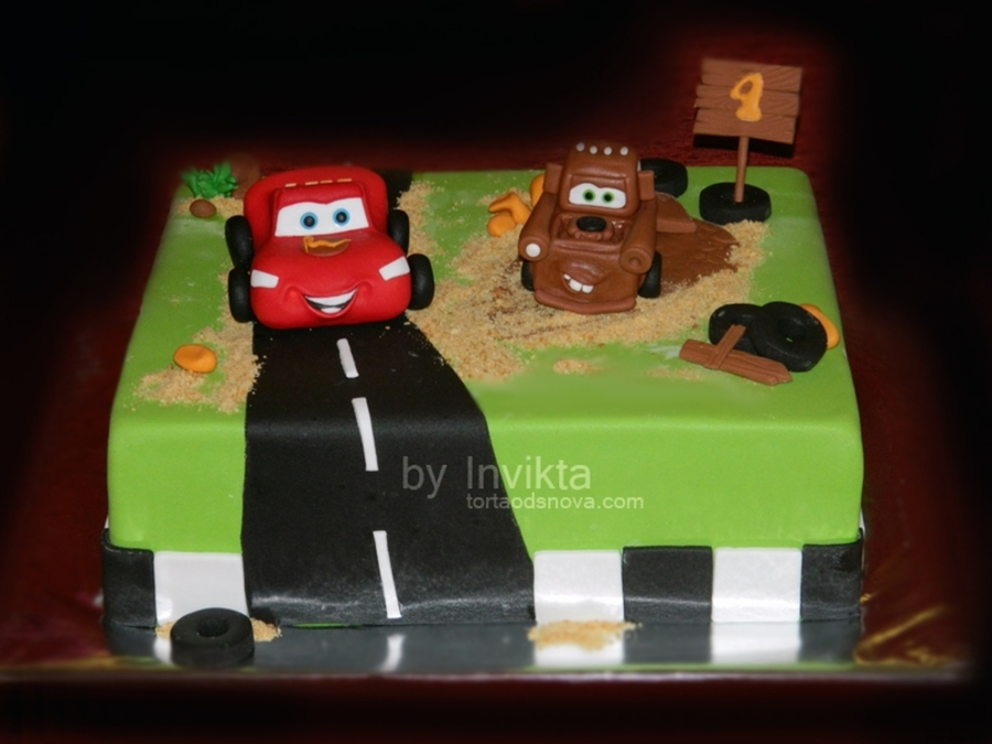 Lightning Mcqueen And Mater Cake on Cake Central