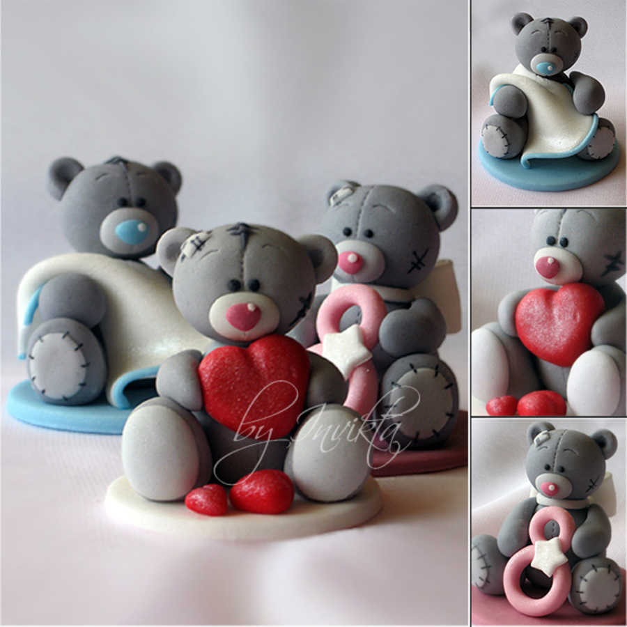 """ Me To You"" Bears on Cake Central"