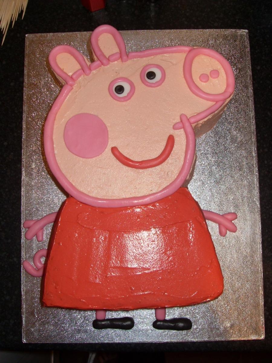 Easy To Make Peppa Pig Birthday Cake