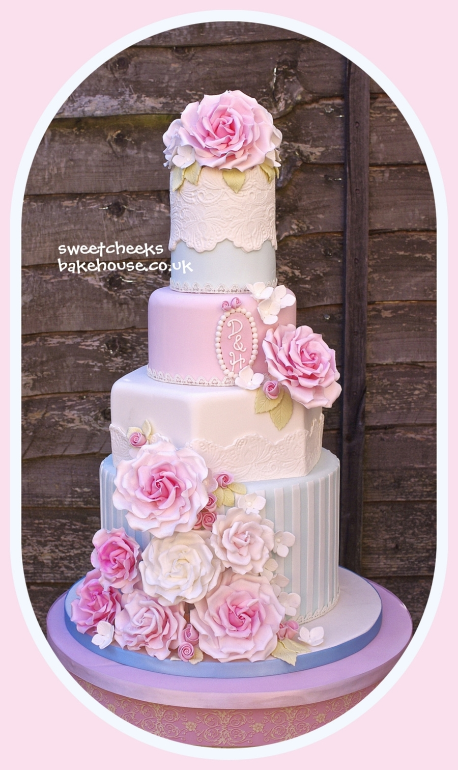 Rose Stripe Cake on Cake Central