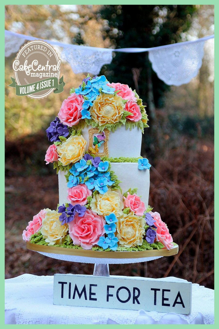 Spring Wedding Cake on Cake Central