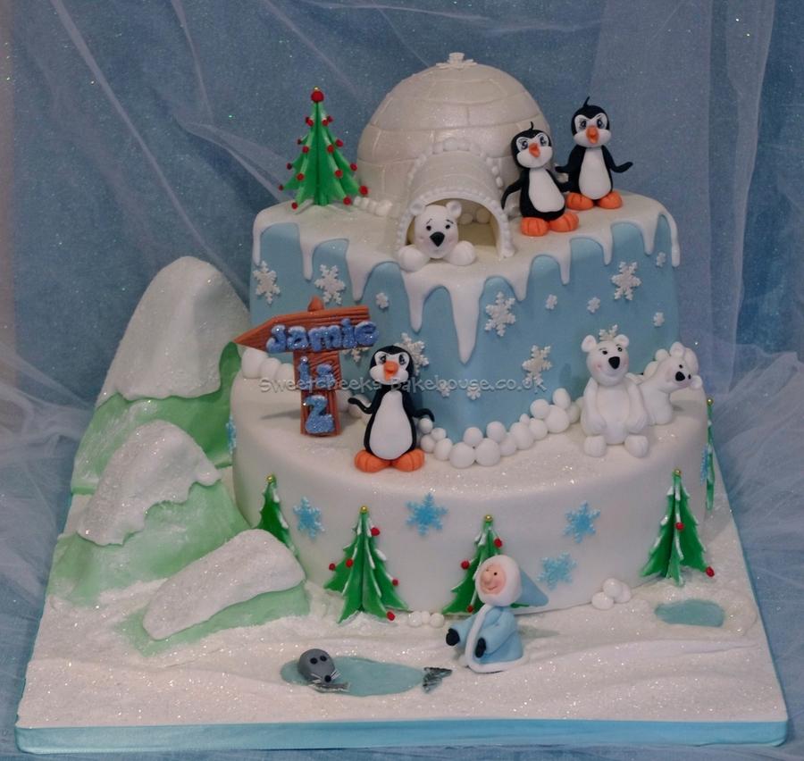 Image Result For Winter Onederland Birthday Cake For