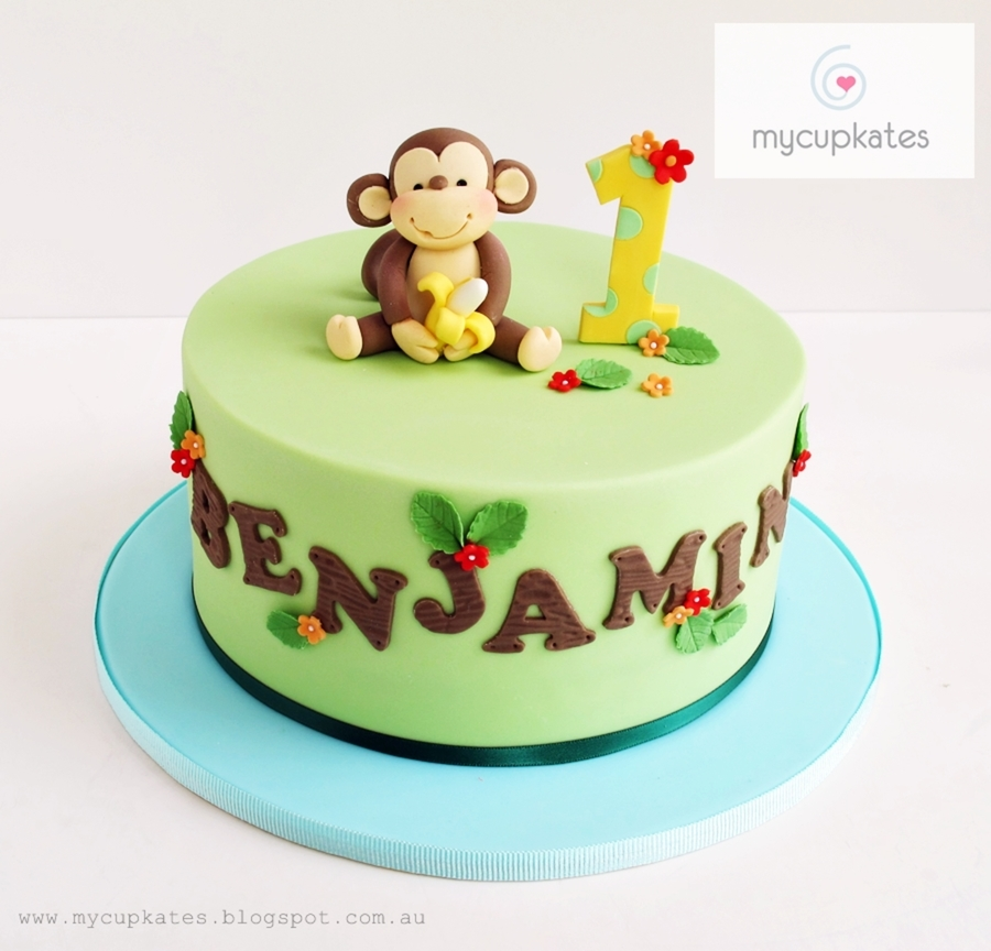 Cheeky Monkey 1St Birthday Cake on Cake Central