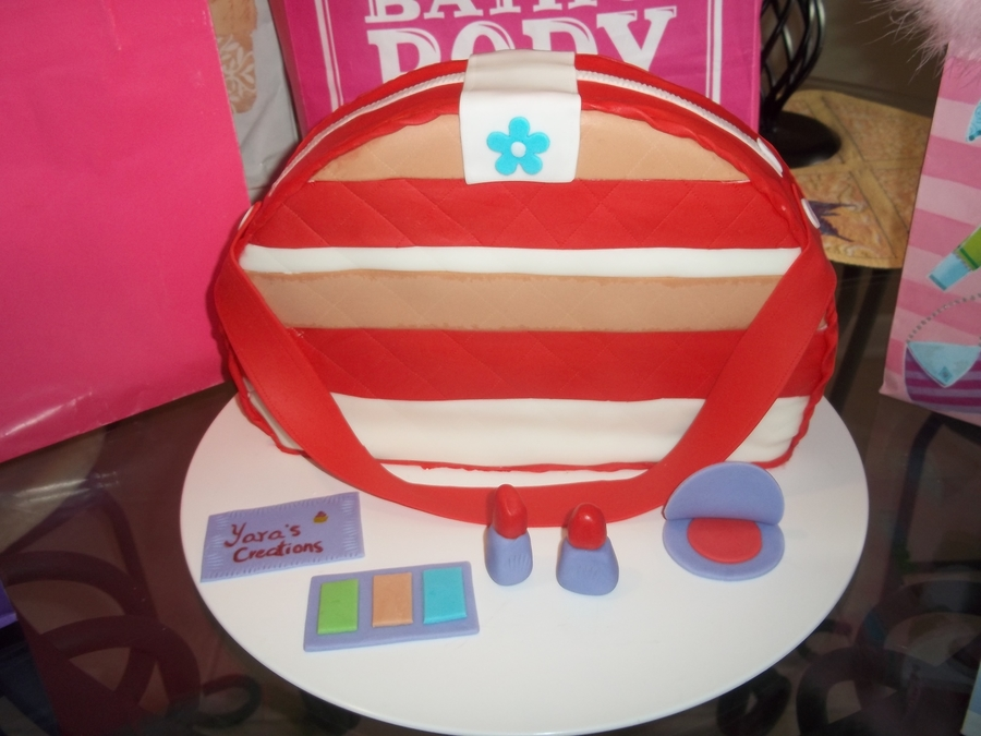 Purse And Make Up Cake on Cake Central