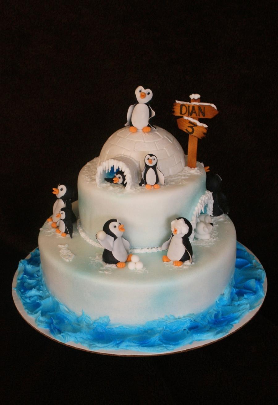 Penguin Cake Cakecentral Com