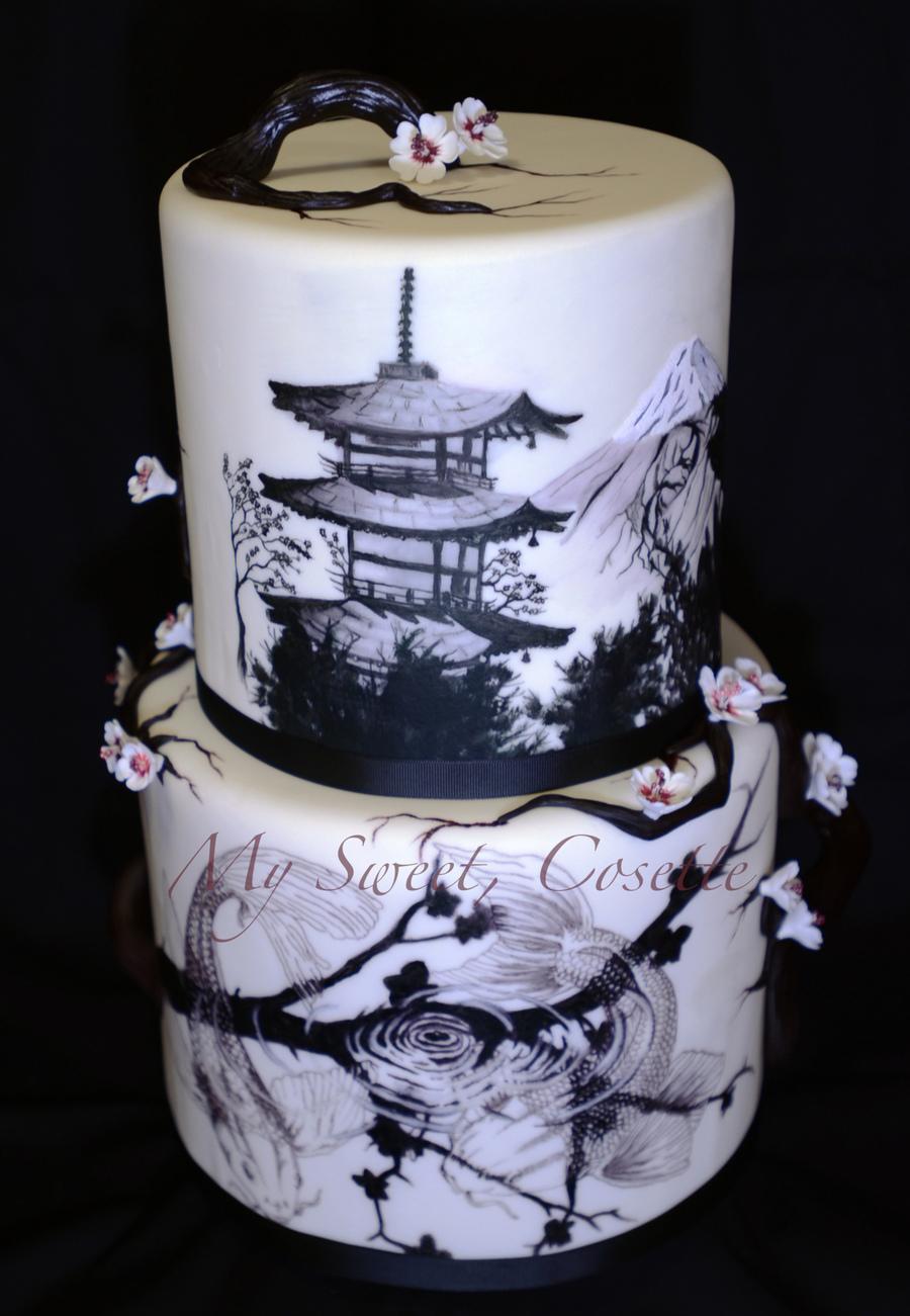 Japanese Theme Wedding Cake Cakecentral