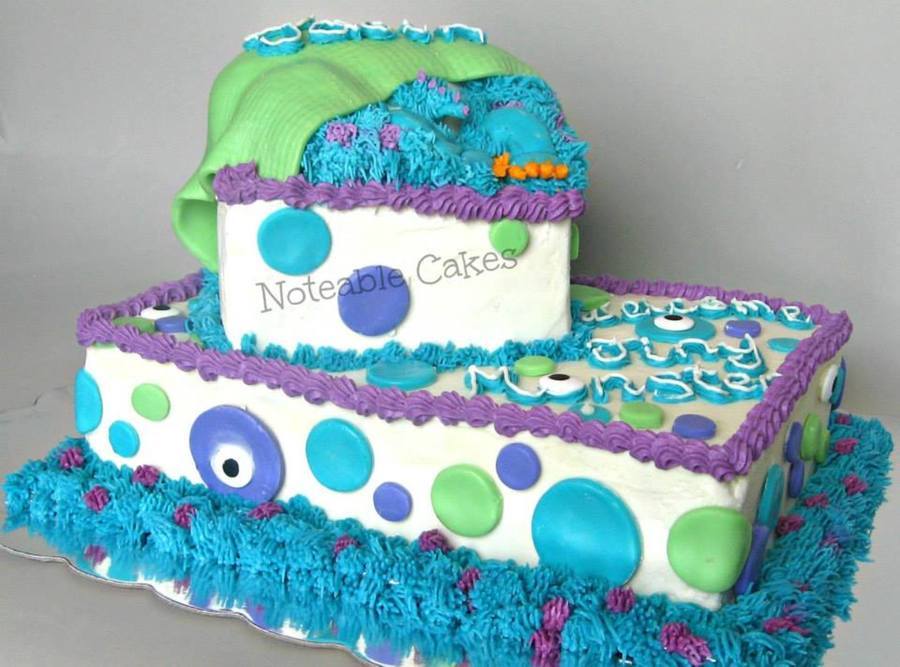 Monsters Inc Inspired Baby Shower Cake I Was Given A Pic Of A Cake