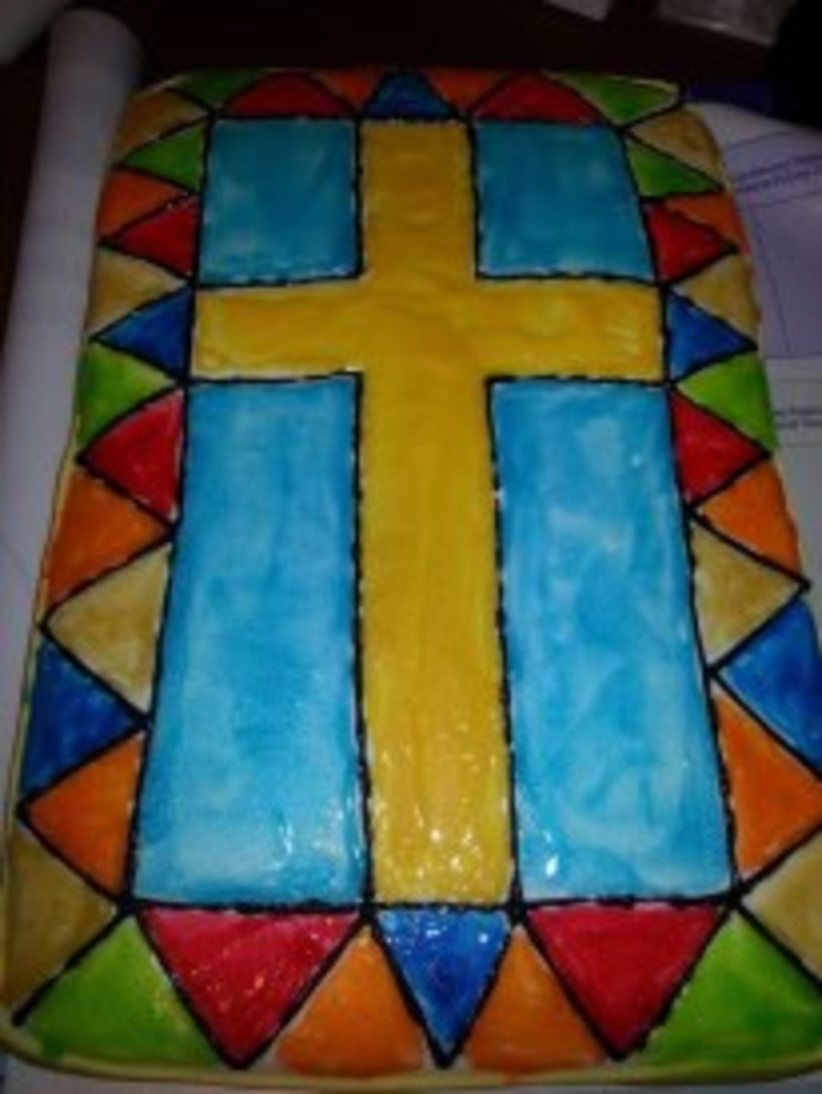 Cross Stained Glass on Cake Central
