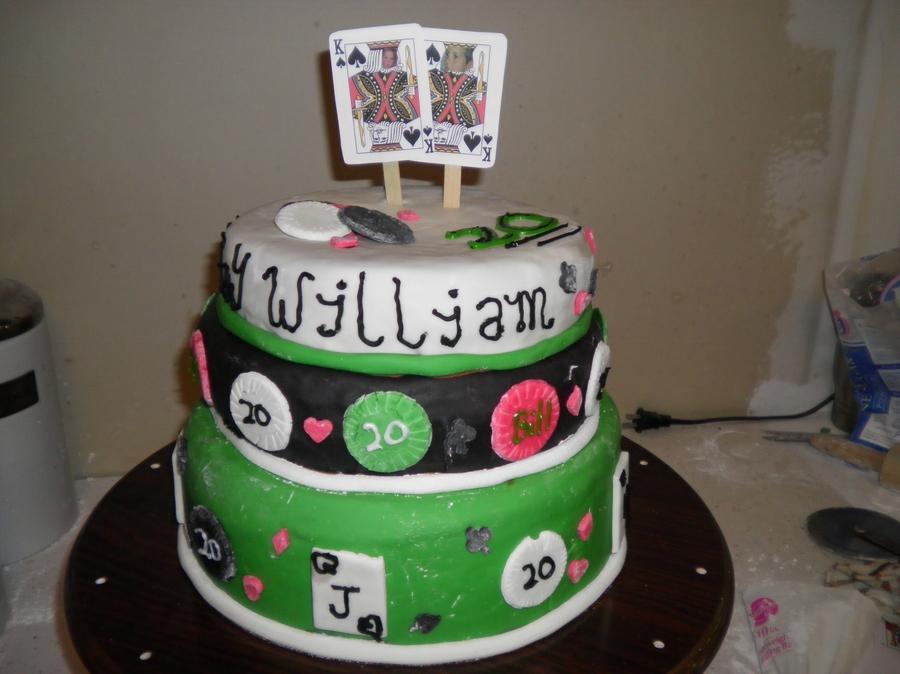 Texas holdem cake