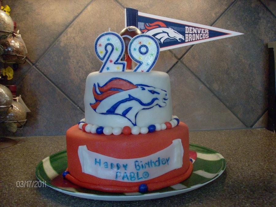 Peachy Denver Broncos Birthday Cake Cakecentral Com Birthday Cards Printable Trancafe Filternl