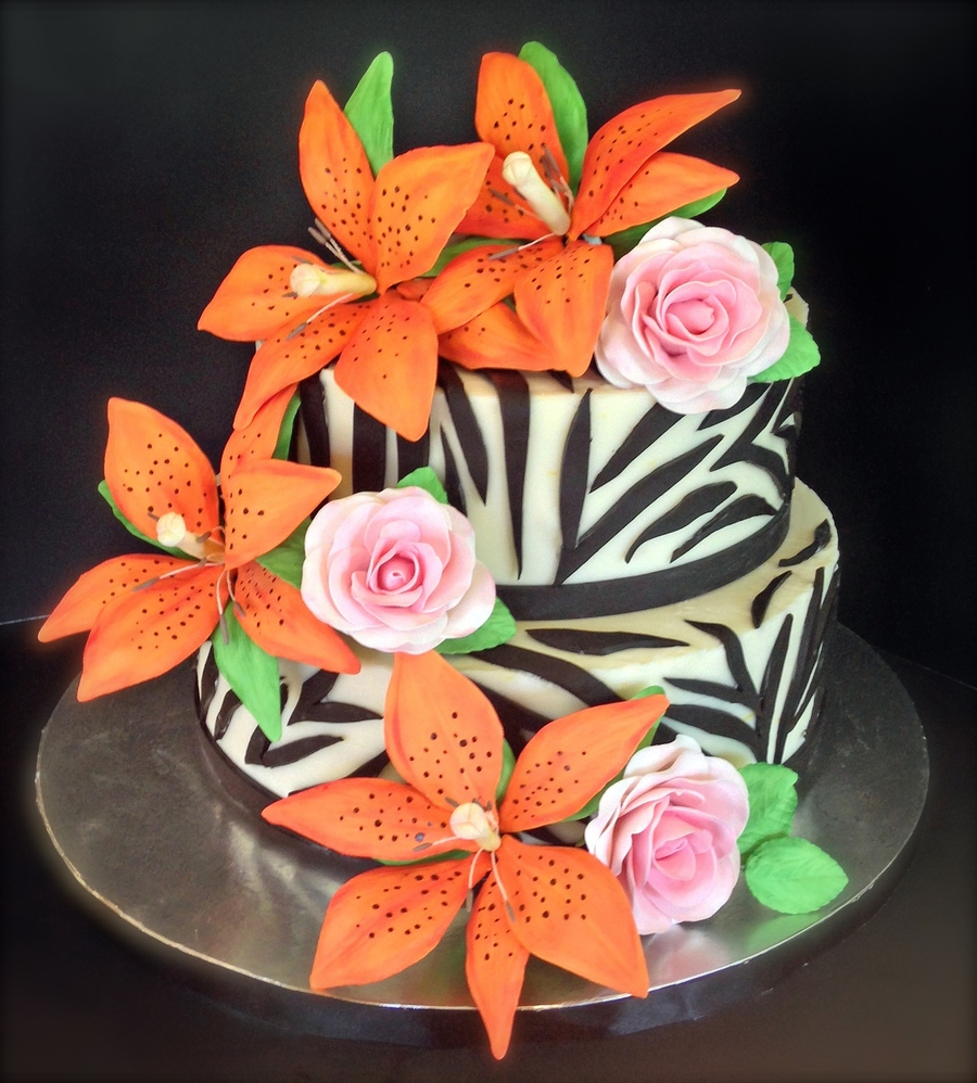 tiger lily wedding cake tiger cake cakecentral 21004