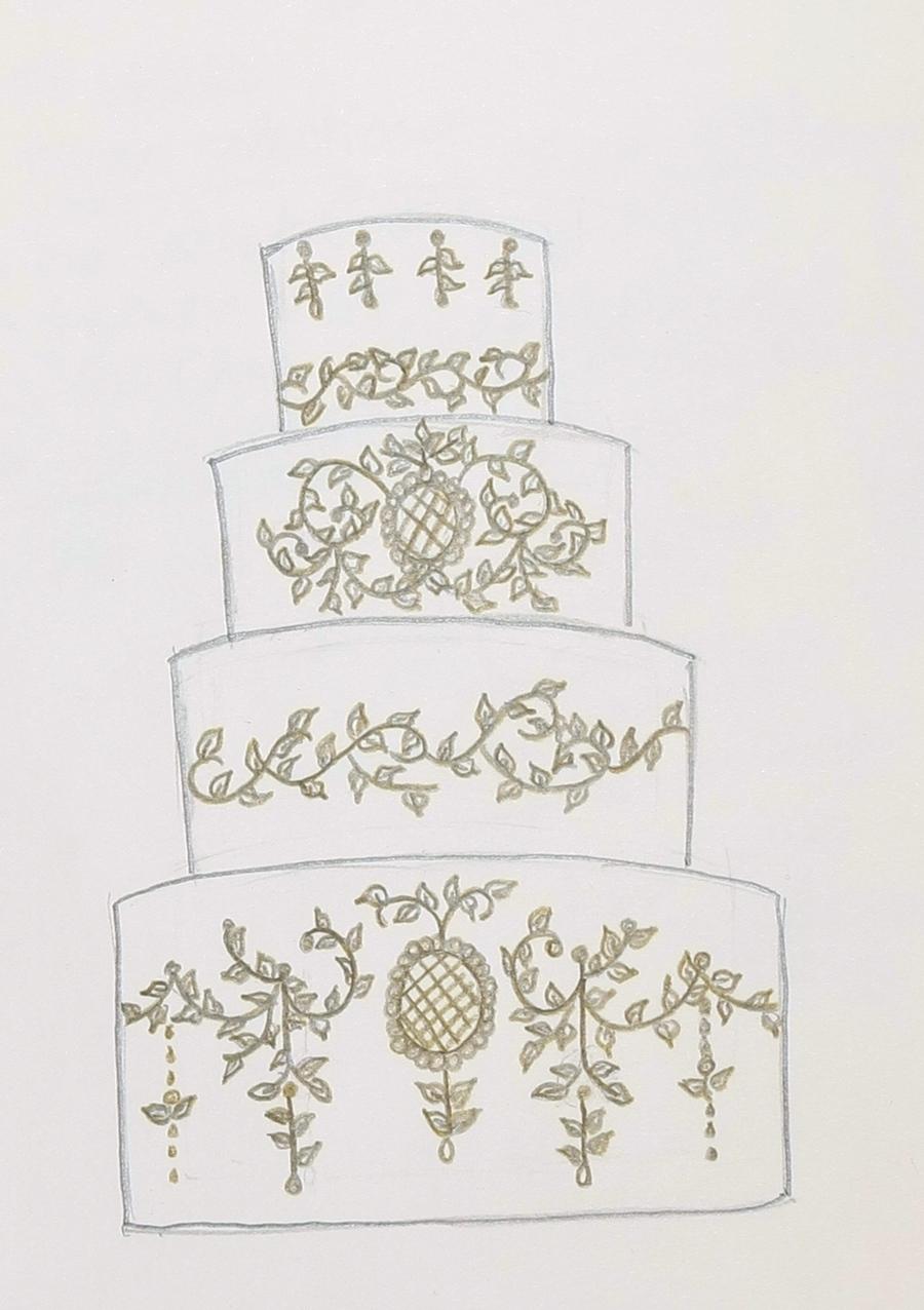 Sketch A Cake Design : Wedding Cake Sketch - CakeCentral.com
