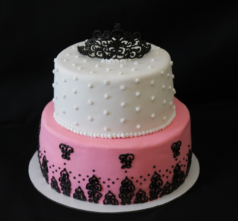 Black And White Tier Cake