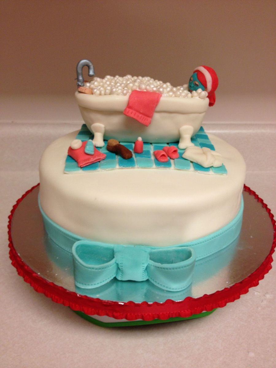 Superb Cake For A Spa Themed Birthday Cakecentral Com Personalised Birthday Cards Xaembasilily Jamesorg