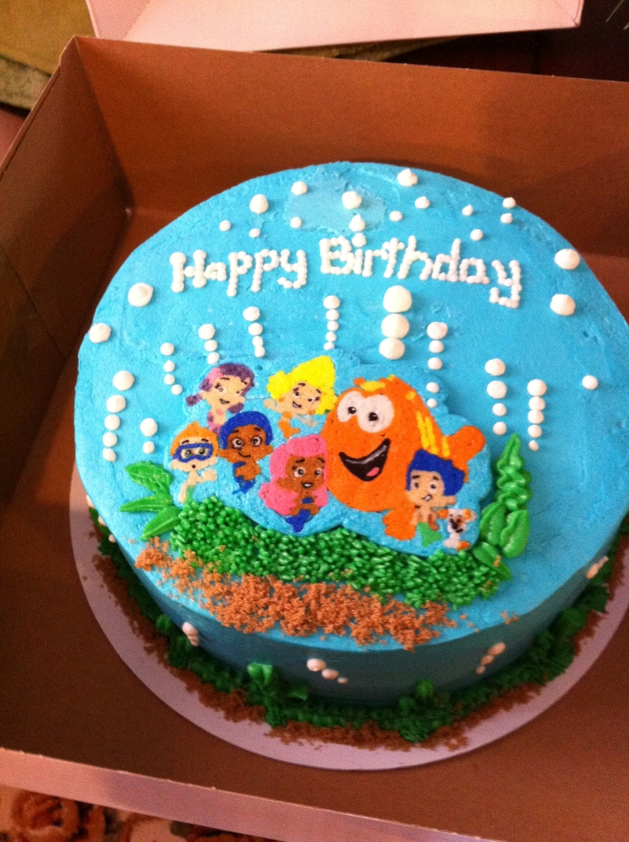 Remarkable Bubble Guppies Birthday Cake Cakecentral Com Birthday Cards Printable Trancafe Filternl