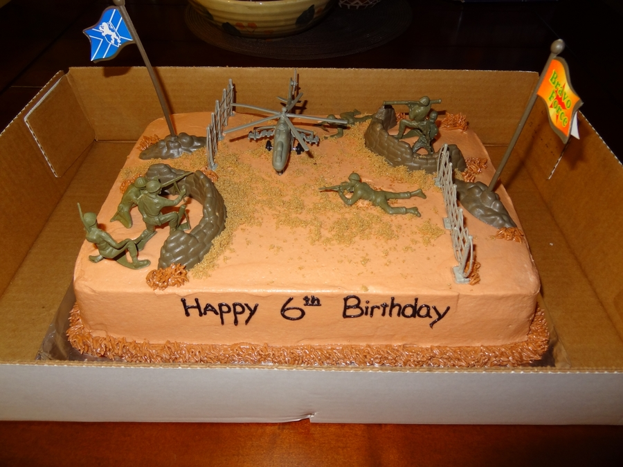 Army Birthday Cake on Cake Central