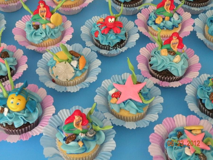 Lil Mermaid Cupcake Cake